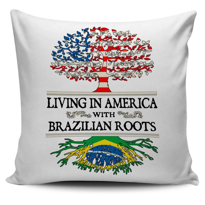 Living in America With Brazilian Roots Pillow