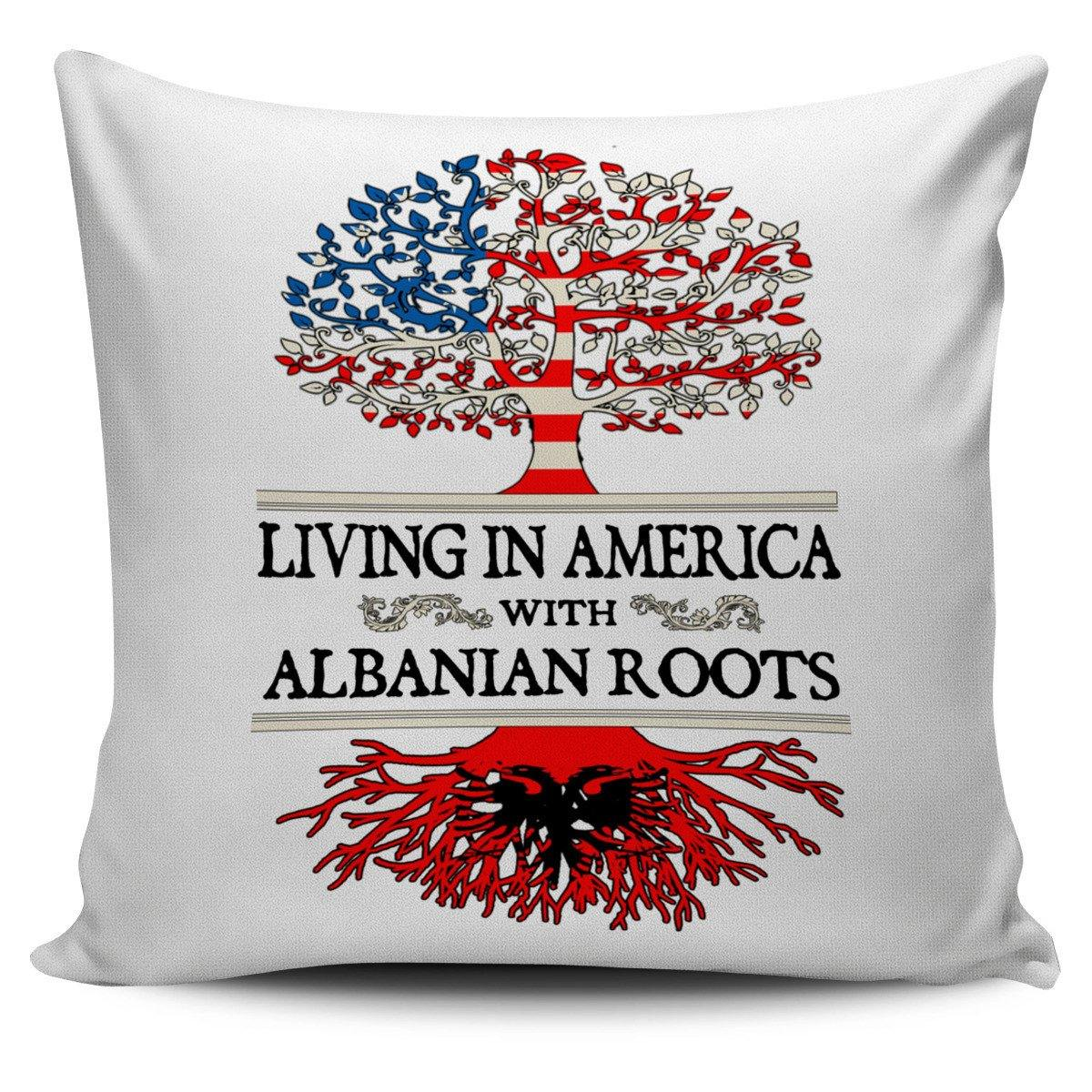 Living in America With Albanian Roots Pillow Covers