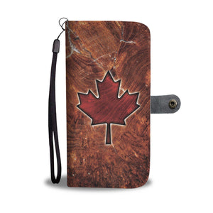 Special Maple Leaf Wallet Phone Case !