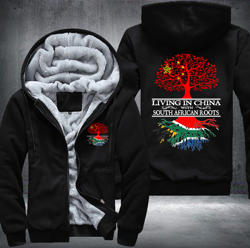 Living in China With South African Roots Fleece Hoodie