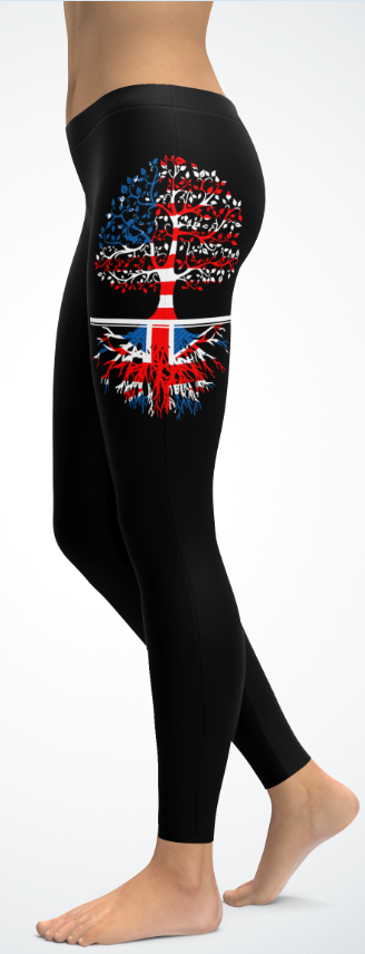 Living in America With British Roots -Leggings