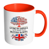 Living in America With British Roots Accent Mugs !