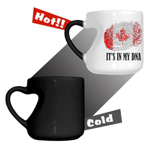 Canada It's In My DNA Heart Color Changing Mug