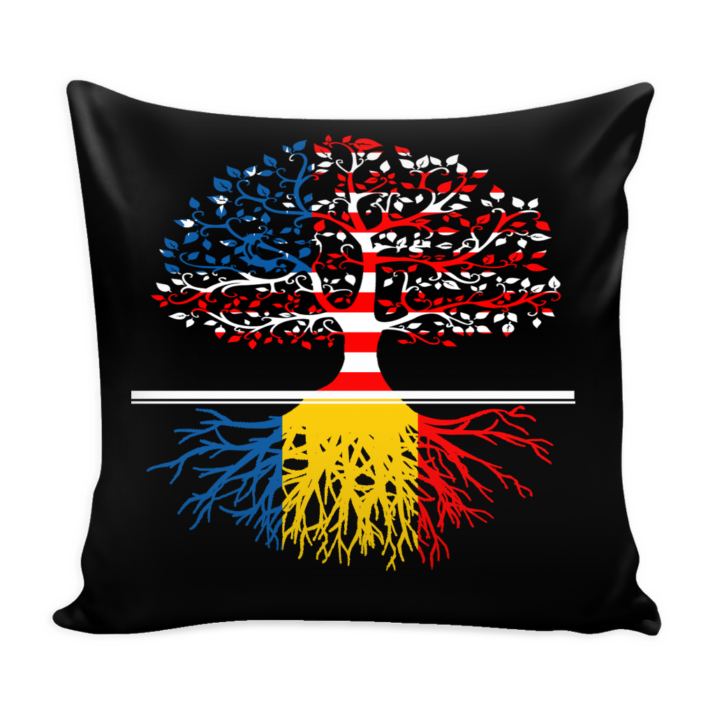 American Grown With Romanian Roots Pillows Cover