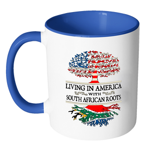 Living in America With South African Roots Accent mugs !