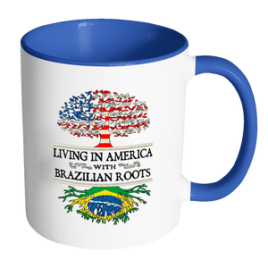 Living in America With Brazilian Roots Accent Mugs !