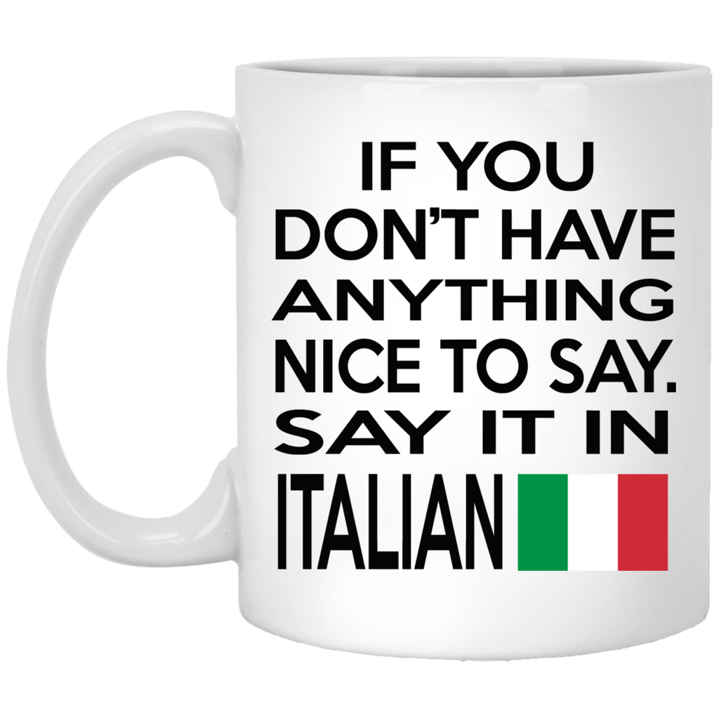 Say It in Italian Mugs