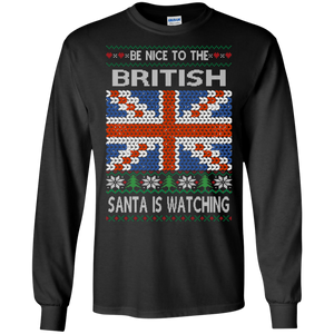 Be Nice To The British Funny Ugly Sweater !