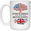 America With British Roots White Mugs