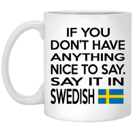 Say It in Swedish Mugs