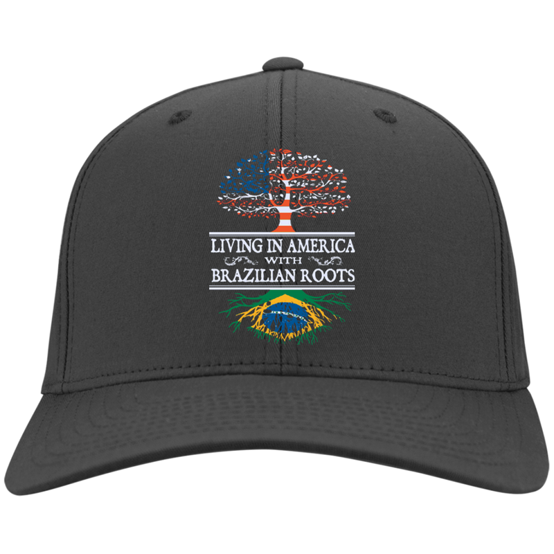 Living in America With Brazilian Roots Twill Hat