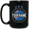 Dad The Australian Legend Personalized Black Mug
