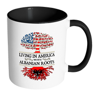 Living in America With Albanian Roots Accent Mugs !