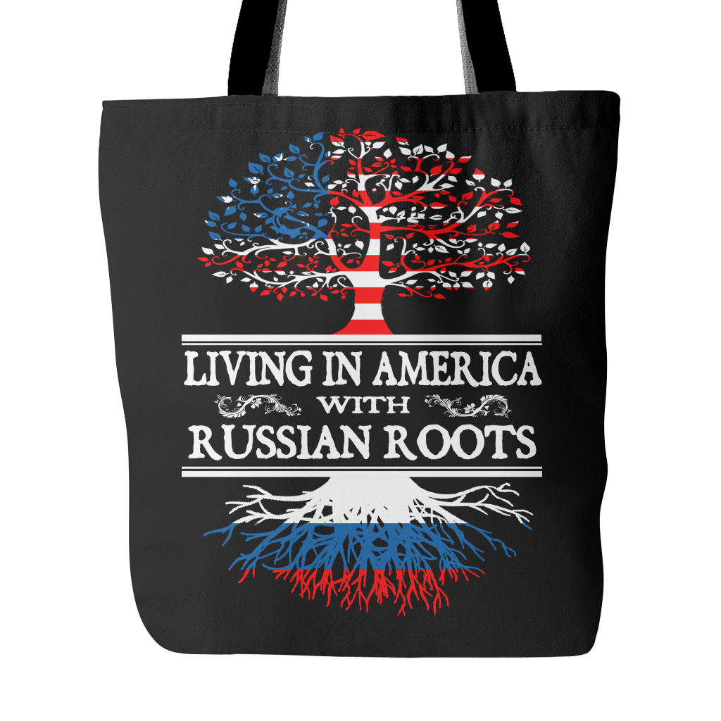 America With Russian Roots Tote Bag !