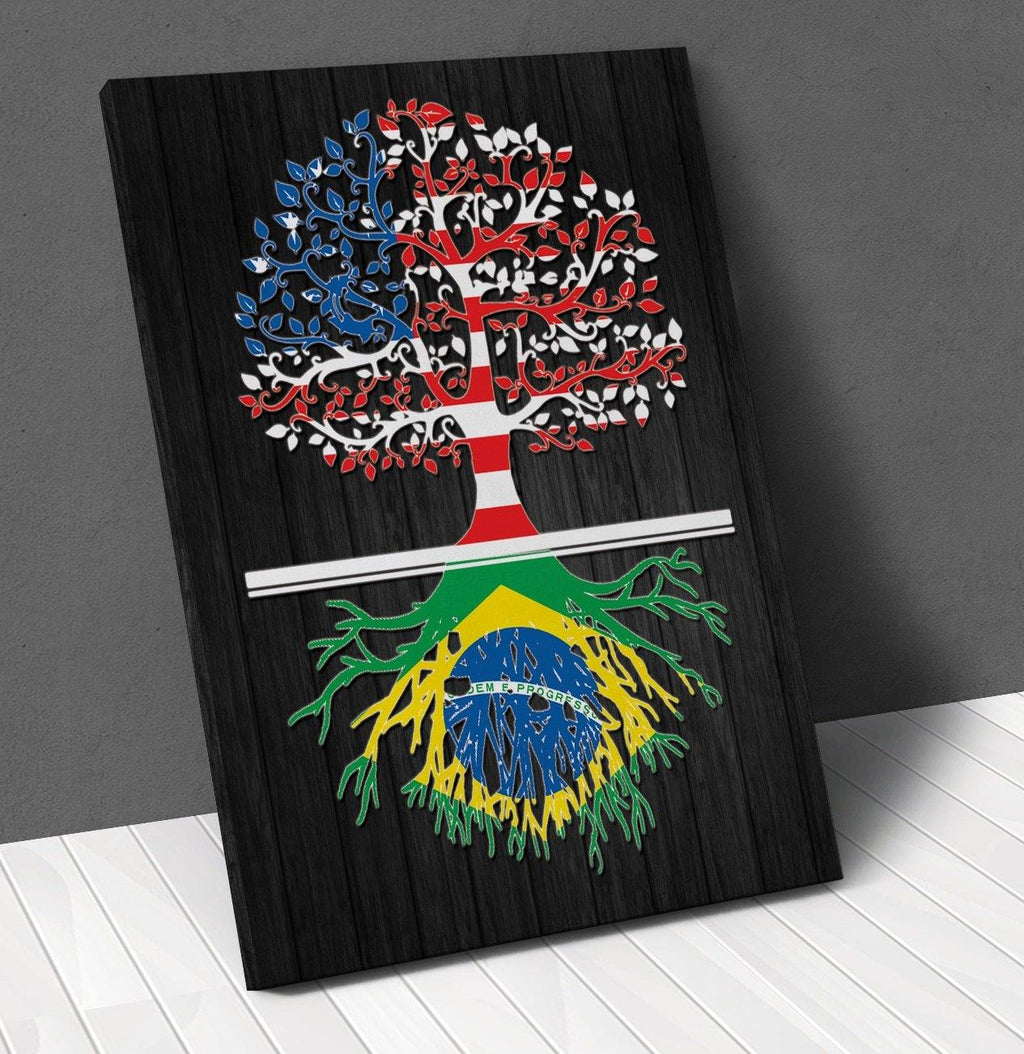 American Brazilian Roots Canvas Wall Art !