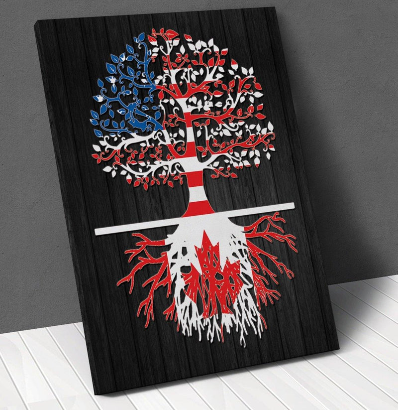 American Canadian Roots Canvas Wall Art !