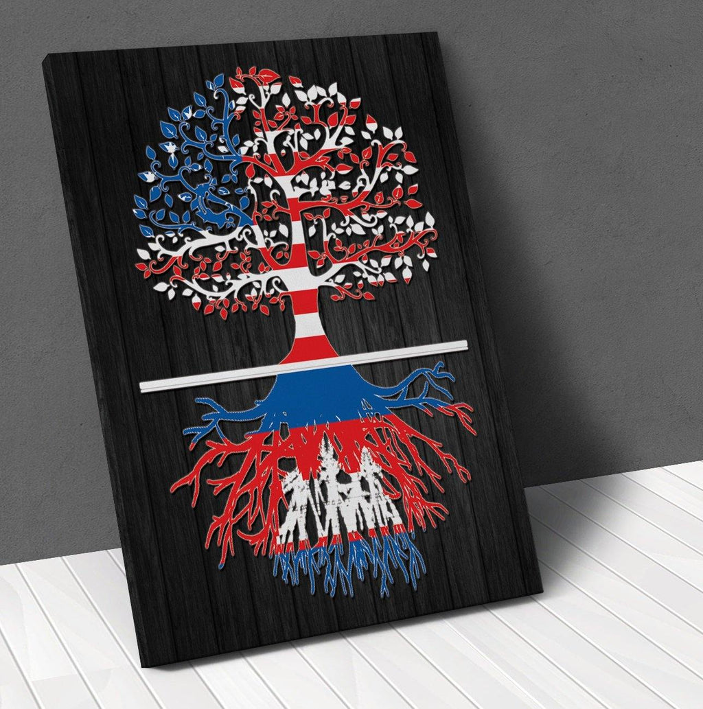 American Cambodian Roots Canvas Wall Art !