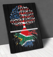 American South African Roots Canvas Wall Art !