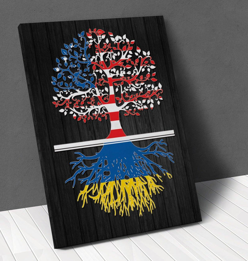 American Ukrainian Roots Canvas Wall Art !
