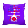 American Grown With Canadian Roots Pillows Cover