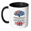 Living in Australia With British Roots Accent Mugs