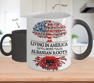 Color Changing Mug-American Albanian Roots !