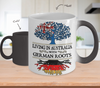 Color Changing Mug-Living in Australia With German Roots !