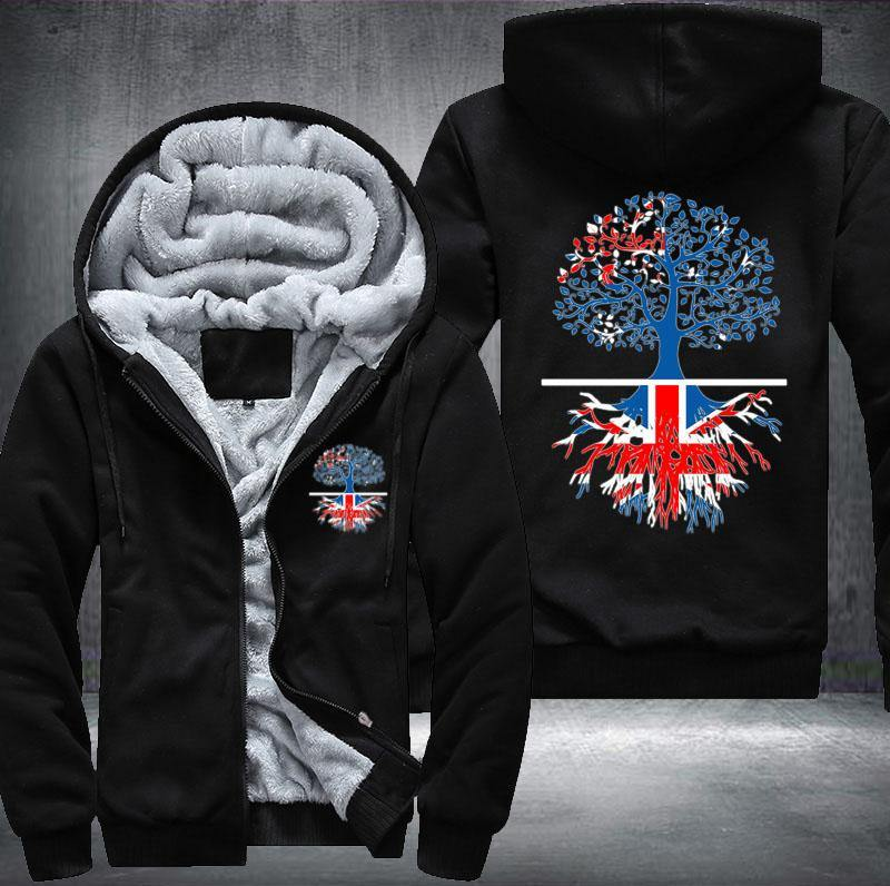 Living in Australia With British Roots Fleece Hoodie