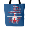 American Grown With Canadian Roots Tote Bag