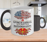 Color Changing Mug Living in America With Macedonian Roots