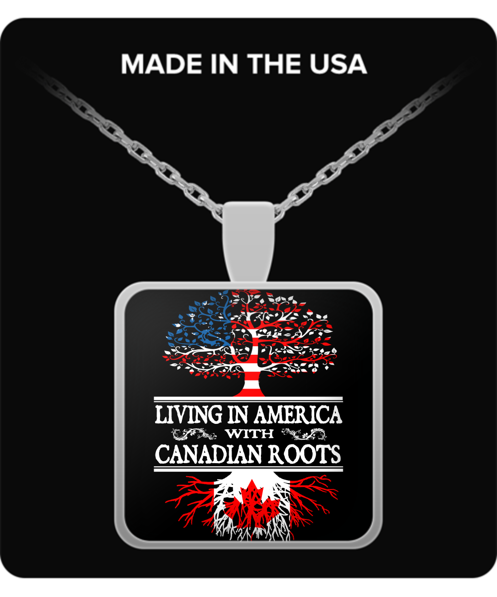 America With Canadian Roots Necklace !
