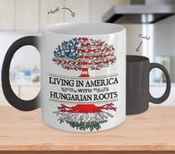 American Hungarian Roots Color Changing Mug