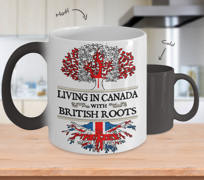 Color Changing Mug-Canadian British !
