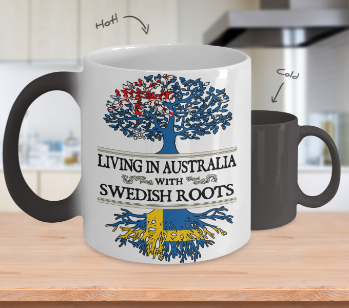 In Australia With Swedish Roots Color Changing Mug