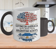 American Argentinian Roots Color Changing Mug