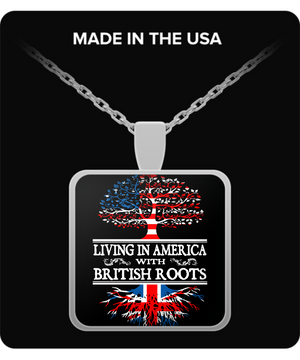 Living in America With British Roots Necklace !
