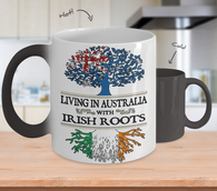Living in Australia With Irish Roots- Color Changing Mug