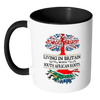 Living in Britain With South African Roots Accent Mugs !