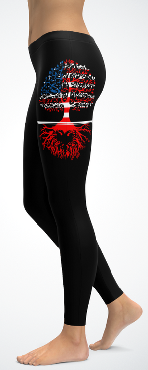 American Albanian Roots Leggings