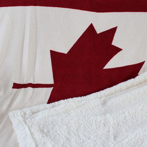 Canada Maple Leaf Throw Blanket