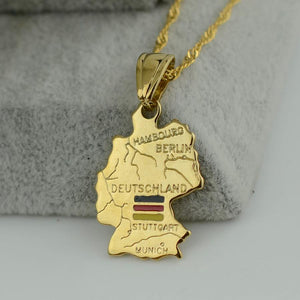 Germany Map Necklace For Awesome Germans