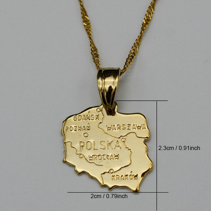 Poland Map Necklace