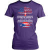 Living In America With Puerto Rican Roots T Shirt !