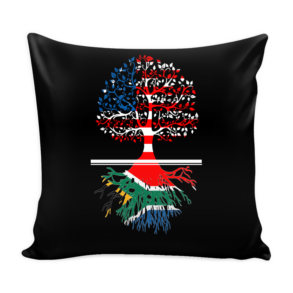 American Grown With South African Roots Pillow Cover