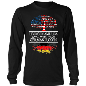 UpSell Living in America With German Roots Tees !