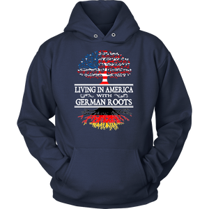 Living in America With German Roots Tees !