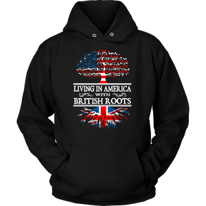 living in america with british roots t shirt