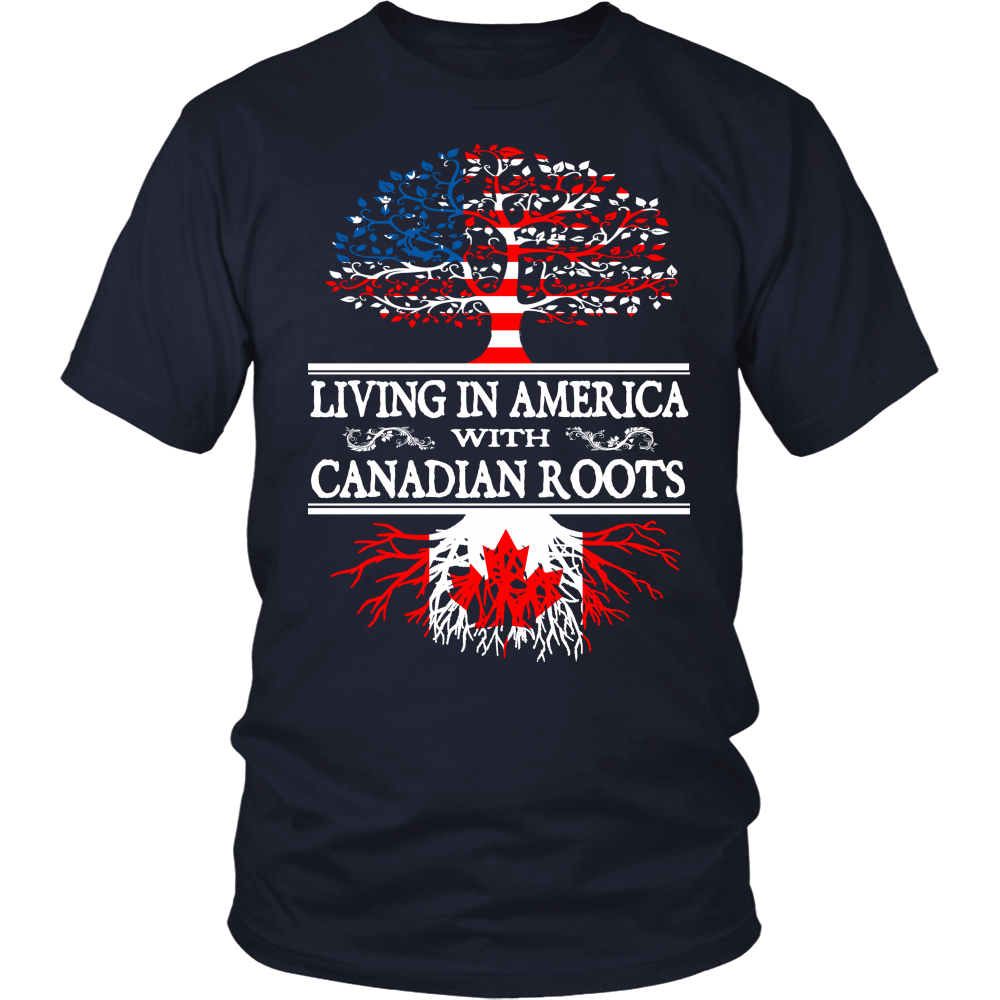 living in america with canadian roots
