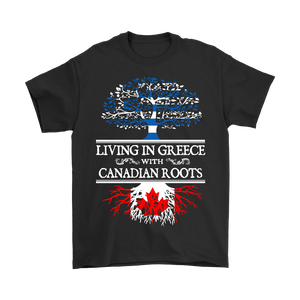 Living in Greece With Canadian Roots Tees