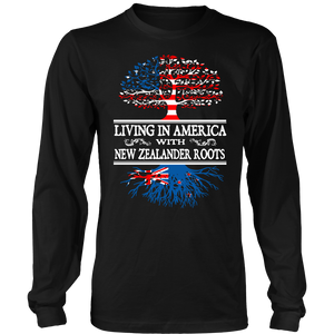 Living in America With New Zealander Roots Tees !
